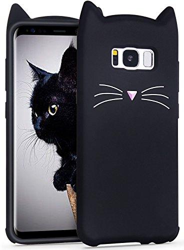 Galaxy s8 ケース Imikoko ギャラクシーs8 カバー おしゃれ かわいい ねこ 猫耳 シリコン ディズニー耐衝撃