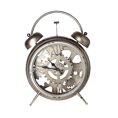 Campana Mesa Reloj Despertador diseño Industrial 37 x 52 cm Metal ...