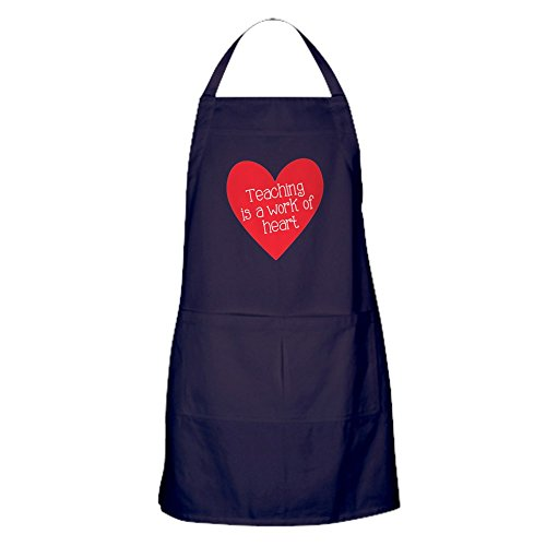 CafePress Red Teacher Heart Apron (Dark) Kitchen Apron with Pockets, Grilling Apron, Baking Apron