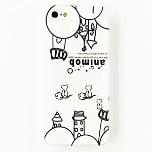 Mini - Cats House Pattern Polycarbonate Hard Case for iPhone 5/5S , Color: Multicolor