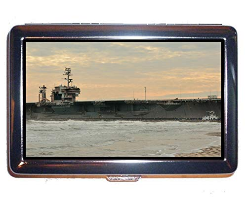 - Cigarette Case Box,Aircraft Carrier USS Constellation Professional Business Card