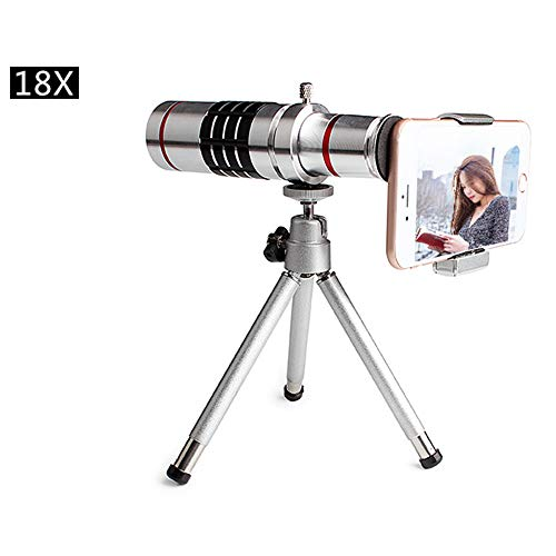 18x Monocular Telescope,Smartphone Holder and Tripod for Hunting Camping Hiking Travelling Sightseeing