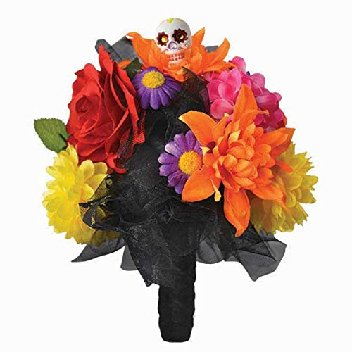 Day of the Dead Skull Flower Bouquet | 2 Ct.]()