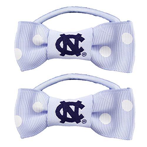 NCAA North Carolina Tar Heels Bow Pigtail Holder