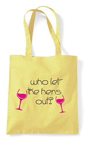 Bag Customised Party Lemon Tote The Hen Who Shopper Let Hens Out 58WdPvq4