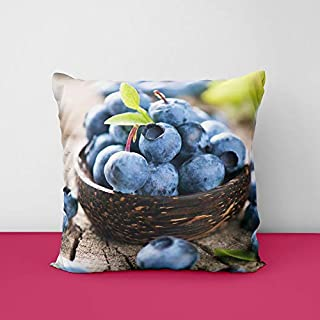 41vpgOyapRL. SS320 Blueberry Fruit Square Design Printed Cushion Cover