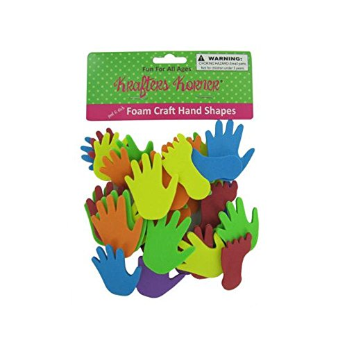 48 Foam craft hand and feet shapes by FindingKing