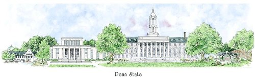 Penn State University - Collegiate Sculptured Ornament by Sculptured Watercolor Ornaments