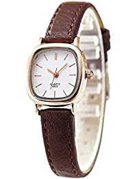 Women Small Wrist Watches Leather Strap Unique Simple Square Watch Analog Classic Watch for Valentines Gift