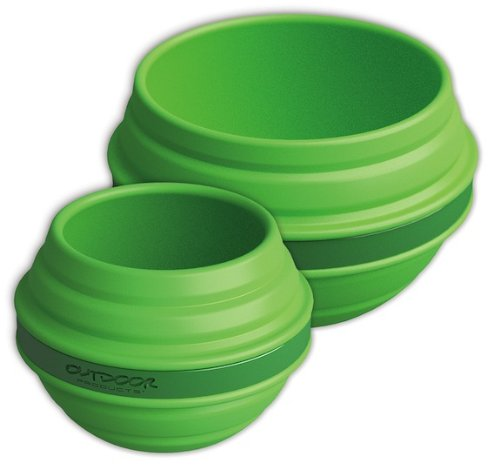 Outdoor Products Collapsible Silicone Bowl and Cup, Classic Green CAM008OP-CLGN