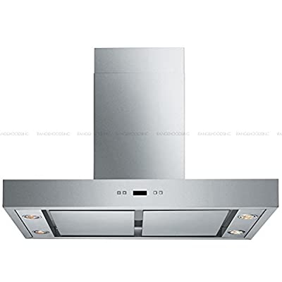 "CAVALIERE 30"" Wall Mounted Stainless Steel Kitchen Range Hood 860 CFM Spagna Vetro Econo Series SV198Z-SP30"