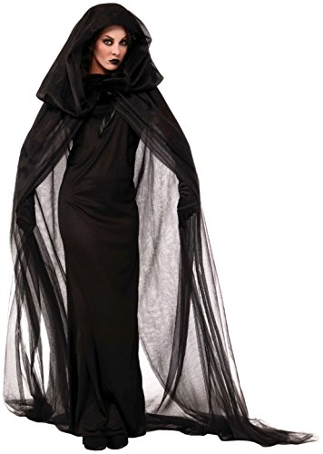 Forum Novelties Adult Black Haunted Cape and Dress Costume -