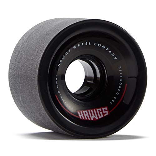 Hawgs 70's Hawgs Longboard Wheels - 70mm 78a - Black (Hawg Wheels)