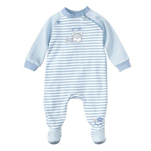 BORNINO Schlafoverall Baby-Nachtwäsche Baby-Schlafanzug, Größe 74/80, hellblau