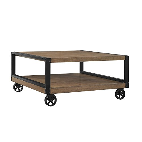 Ameriwood Home 5038196COM Wade Coffee Table, Rustic Gray