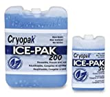 7-1/2'' x 5-3/4'' x 1-1/2'' Hard Ice Pack - 32 oz. (24 Cold Packs) - AB-710-2-132