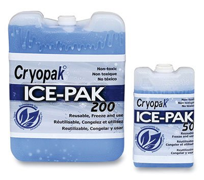 7-1/2'' x 5-3/4'' x 1-1/2'' Hard Ice Pack - 32 oz. (24 Cold Packs) - AB-710-2-132 by Miller Supply Inc
