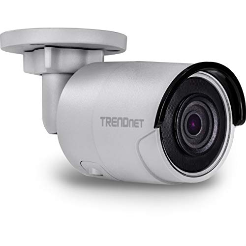 TRENDnet Indoor/ Outdoor 8MP 4K H.265 WDR PoE Bullet Network Camera, IR Night Vision up to 30m (98 ft.), Advanced Playback, Motion Detection Recording, IP67 Rated, 120dB Wide Dynamic Range, TV-IP318PI ()