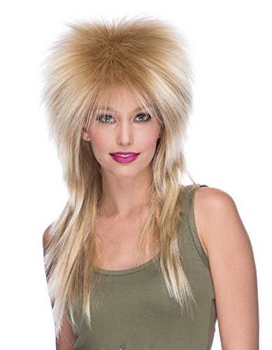 Rose Axl Womens Costume (XL Long Rocker Wig Mixed)
