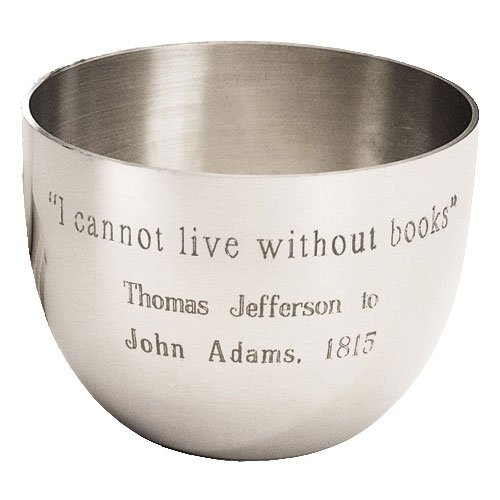 Monticello Book Quote Pewter Jefferson Cup (Cup Pewter Jefferson)