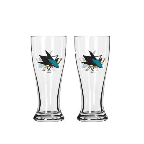 NHL San Jose Sharks Mini Pilsner, 2.5-ounce, 2-Pack