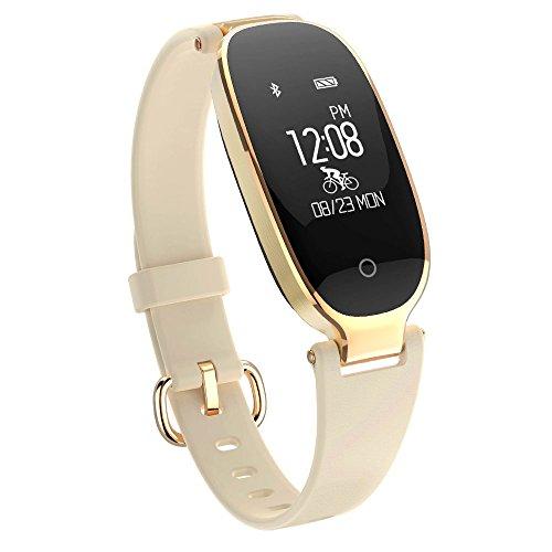 Fitness Tracker, Women Sport Tracker Smart Watch Band Bracelet, Heart Rate Monitor Smart Bracelet,Women Swimming Waterproof Wristband Watch with Health Sleep Activity Tracker Pedometer for Smart Phone