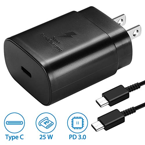 USB C Wall Charger, PD 25W Fast Charger for Samsung Galaxy Note10/10+/S10...