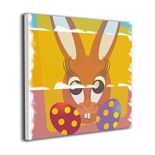 Hanging Decorations Easter Bunny Wall Art Decor for Bedroom,Bathroom,Walkway,Living Room Ready to Hang