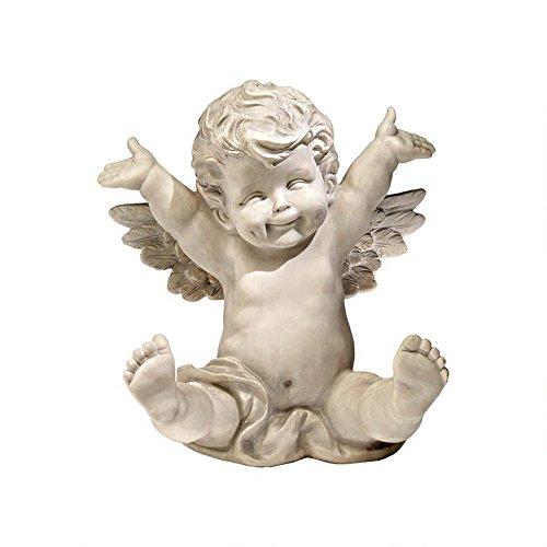 XoticBrands Playful Cherub Home Garden Statue Sculpture ()