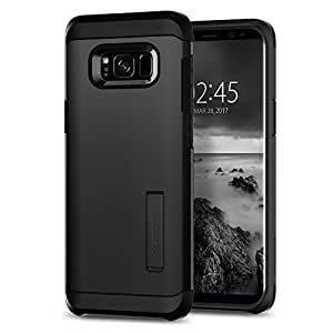 Spigen [Tough Armor] Galaxy S8 Case with Kickstand and Extreme Heavy Duty Protection and Air Cushion Technology for Samsung Galaxy S8 (2017) - Black