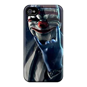 Excellent Hard Cell-phone Case For Iphone 4/4s (bxK18802vaKG) Provide Private Custom Beautiful Payday 2 Mask Pattern