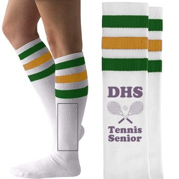 f69f5b3ebdd2f Amazon.com: High School Tennis Girl: American Apparel Striped Knee-High  Socks: Arts, Crafts & Sewing