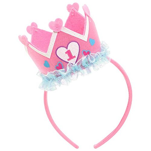 Amscan Girl's 1st Birthday Felt Novelty Headband Party Suppl