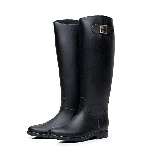 Moda lluvia oras de Black hebilla se botas SrwSWqa0