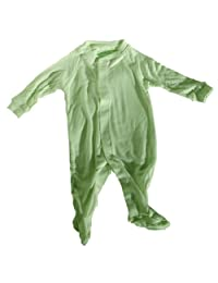 Shoo-Foo Bamboo Footed Sleepers 9-12 Months, Light Green, 1-Pack