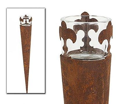 Portacandele Da Giardino : Portacandela fiaccole da giardino con porta bicchiere per lumino o