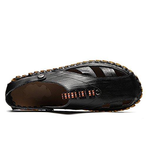 Colore Doppio Scarpe 2 da Antiscivolo Nero Cava Nere EU Uomo Wagsiyi Scarpe Da pantofole Spiaggia Uso spiaggia 3 A Sandali 38 Scarpe Estate Nero Dimensione 1zwT46q