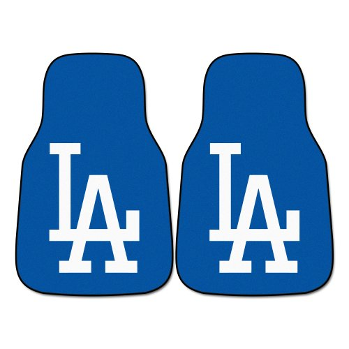 FANMATS MLB Los Angeles Dodgers Nylon Face Carpet Car Mat