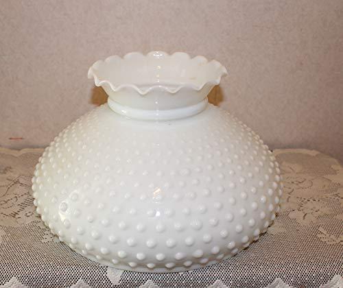 Fenton Milk Glass Hobnail Large Lamp Shade Library Lamp ()
