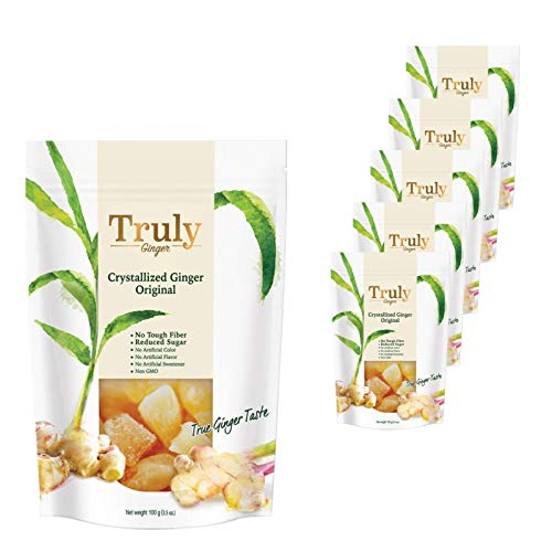 Truly Crystallized Ginger (3.5oz x 6 Packs)