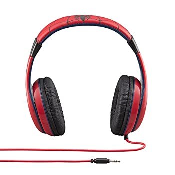 Spiderman Headphones For Kids With Built In Volume Limiting Feature For Kid Friendly Safe Listening 2
