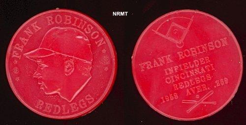 1959 Armour Coins Regular (Baseball) Card# 14 Frank Robinson (light red) of the Cincinnati Reds ExMt Condition