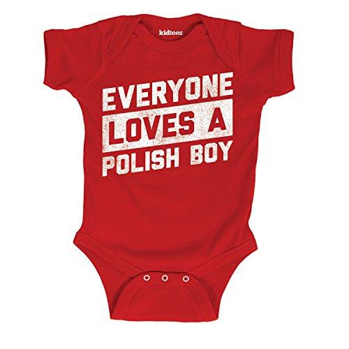 Air Waves Everyone Loves A Polish Boy -Infant One Piece-12M (Bodysuit Infant Polish)
