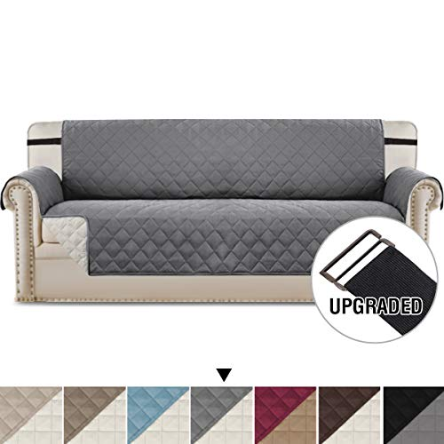 H.VERSAILTEX Reversible Quilted Furniture Protector with Adjustable Straps, Seat Width Up to 78