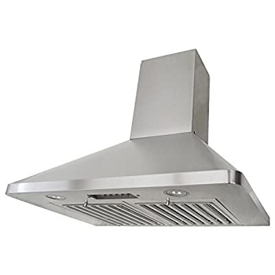 KOBE Range Hoods RAX9430SQB-1 Brillia Wall Mount Range Hood 680 CFM Stainless Steel with LED Lights