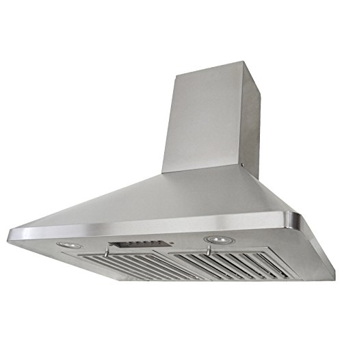 KOBE Range Hoods RAX9430SQB-1 Brillia Wall Mount Range Hood 680 CFM Stainless Steel with LED Lights, 30-Inch