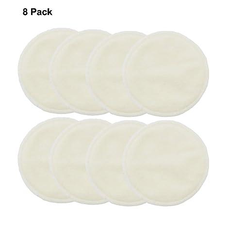Cojines de lactancia de bambú, lavable, 8 paquetes, sujetador a prueba de fugas