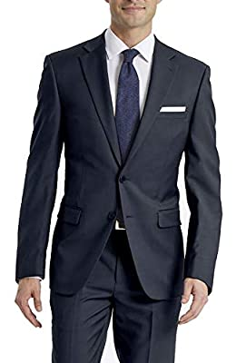 Calvin Klein Men's X-Fit Slim Stretch Suit Separate Blazer (Blazer and Pant), Navy, 42 Long