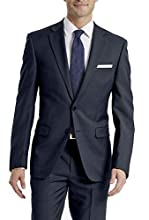 Calvin Klein Men's Slim Fit Stretch Suit Separates-Custom Jacket & Pant Size Selection, Navy Jacket, 42 Short