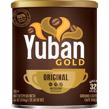 Yuban Gold Original Ground Coffee, Medium, 44 oz